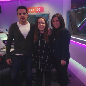 Fran with presenters Mike Toolan and Chelsea Norris